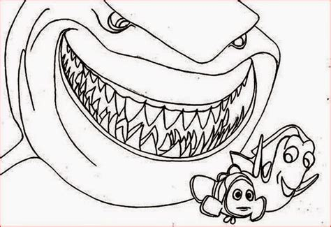 nemo shark coloring pages finding nemo shark coloring sheet coloring pages