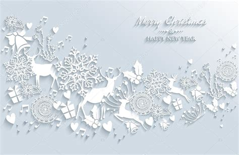 white new year white merry and happy new year vintage greeting