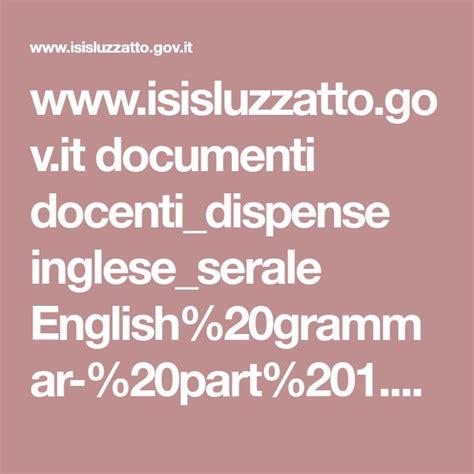 dispense di inglese pdf www isisluzzatto gov it documenti docenti dispense inglese