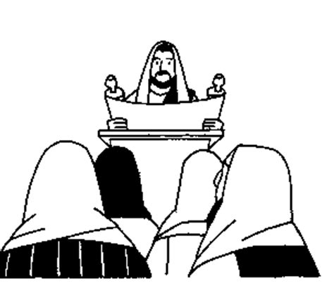 coloring pages jesus reading scroll jesus reads from isaiah