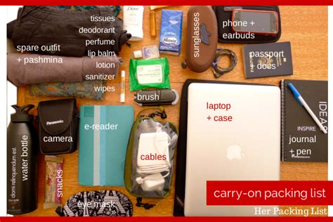 carry on baggage rules important 204 trips day 25 the perfect carry on packing list her packing list