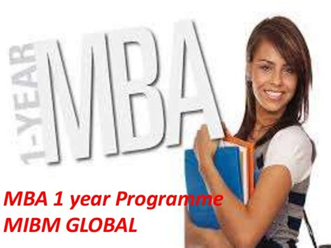 1 Year Mba After Mcom by Join Our Mba 1 Year Programme