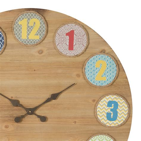 buy nash retro large wooden decor clock online purely