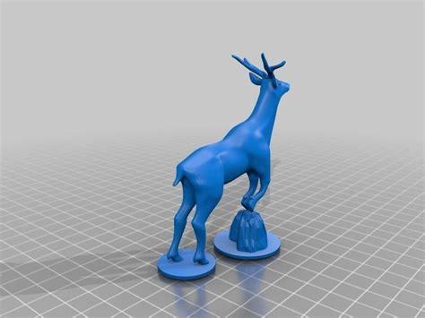 deer   model  printable stl cgtradercom