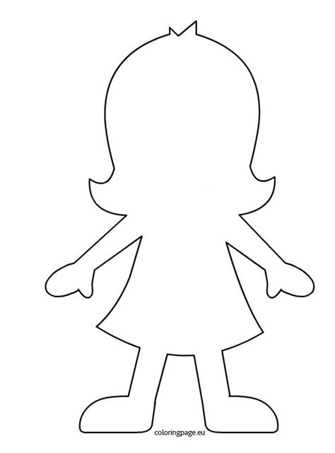 person template preschool silhouette fille filles garcons human