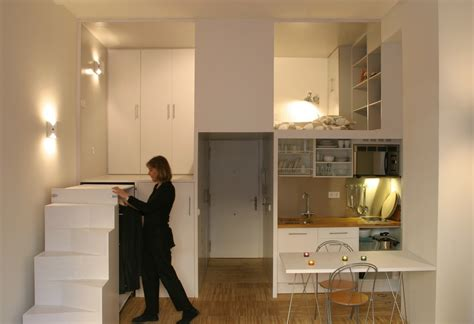 How To Decorate Your Livingroom compact loft in madrid displaying smart storage solutions