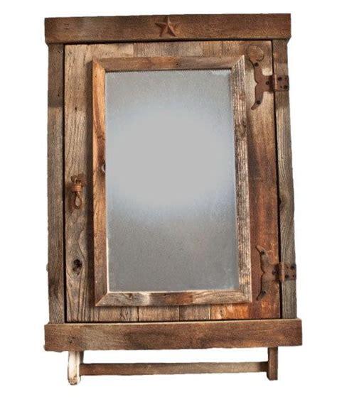 reclaimed farmhouse rustic medicine cabinet  mirror