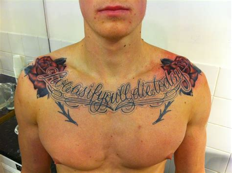rose tattoos on chest for men script chest tattoodenenasvalencia