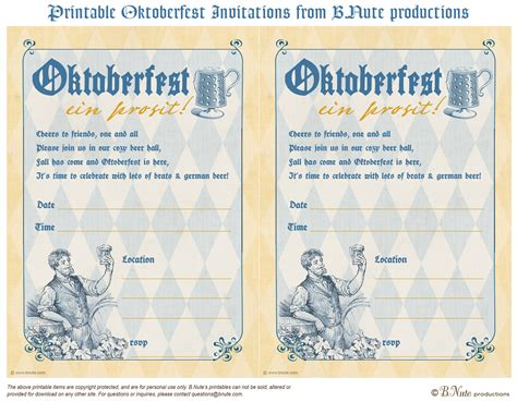 bnute productions free printable oktoberfest invitations
