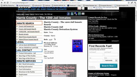 Harris County Inmate Records Harris County Inmate Information