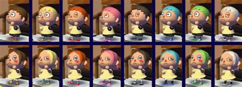 hairstyles and colors on animal crossing city folk shoodle hair guide acnl thonky hairstyle gallery