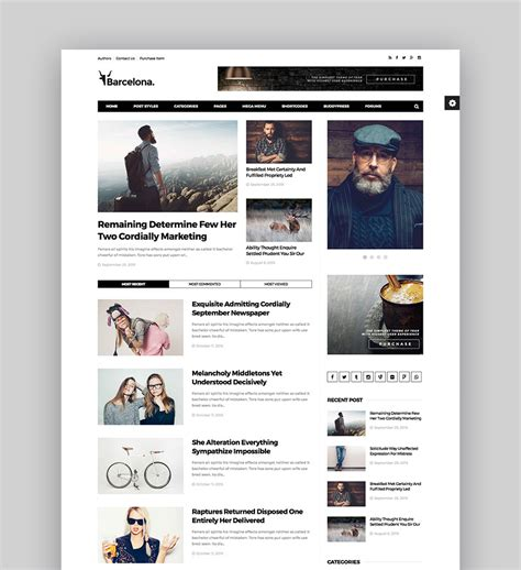 best magazine websites best magazine themes for and news websites