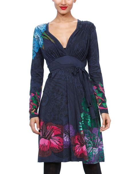 desigual tate dress blue m born2style fashion store
