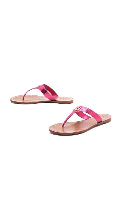 burch pink sandals lyst burch cameron sandals in pink
