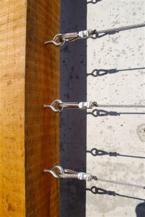 Wood And Wire Trellis Fasteners On A Custom Wood And Wire Trellis Contemporary