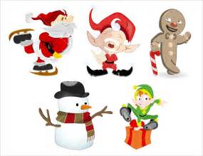 cartoon christmas characters royalty free stock image