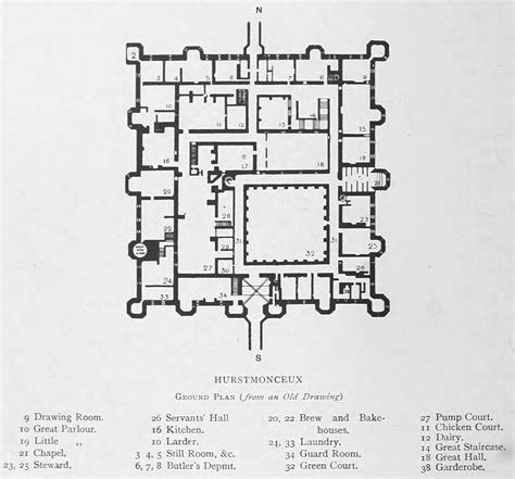 Easton Neston Floor Plan by Hurstmonceux Castle