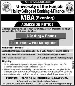 Mba Finance Admission Requirements by Admissions Notice For Colleges Universities In