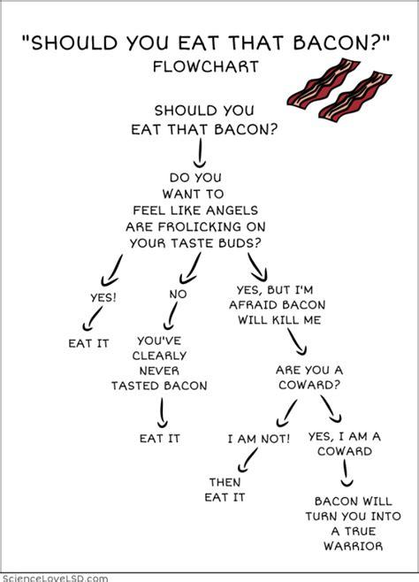bacon flowchart should you eat that bacon comic