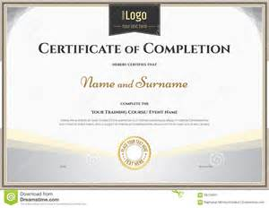 Certificate Of Successful Completion Template by Certificate Of Completion Template In Vector For
