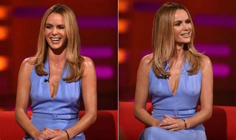 Amanda Holden Flashes Nipples In Plunging Dress On Graham