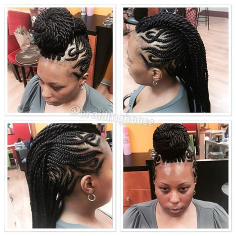 mohawk cornrows hairstyle photo design cornrows mohawk with designs by the braiding house bmore