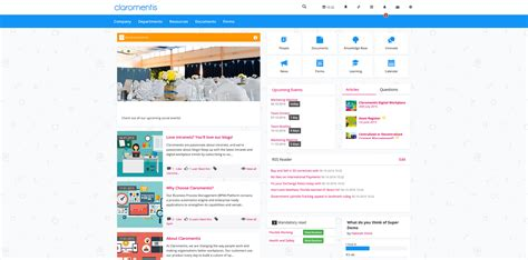 Template Intranet Exles Claromentis Intranet Design Templates