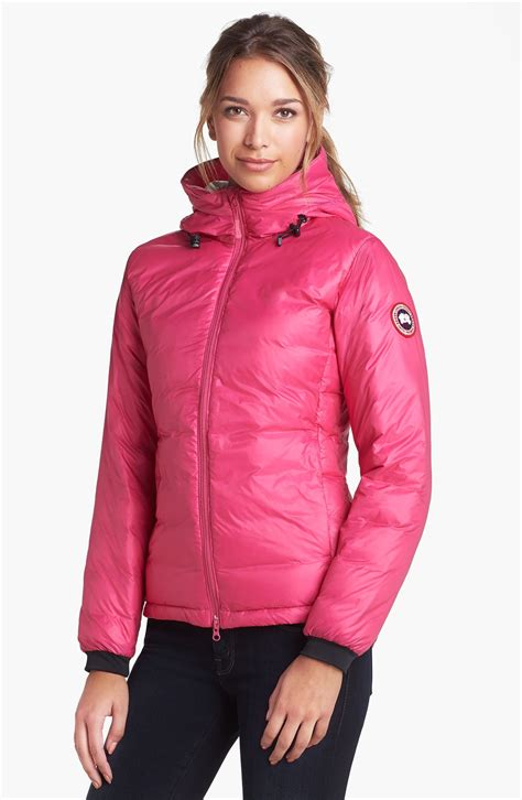 Hodie Parka Pink Ik 1 canada goose c hooded jacket in pink lyst