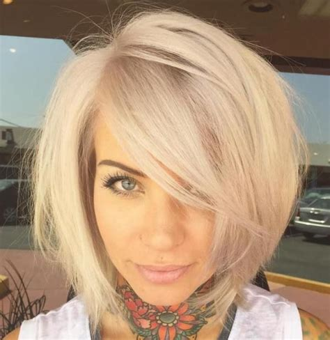 bob with a fringe layered through bottom 37 cute medium haircuts to fuel your imagination blonde