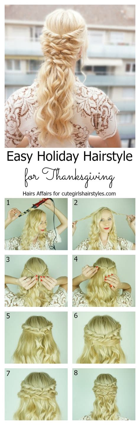diy hairstyles for christmas easy diy holiday hairstyle for thanksgiving cute girls