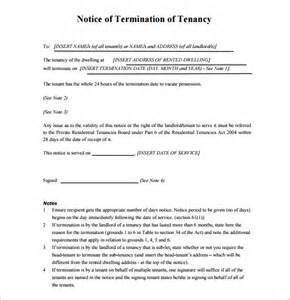 tenancy termination letter template 10 lease termination