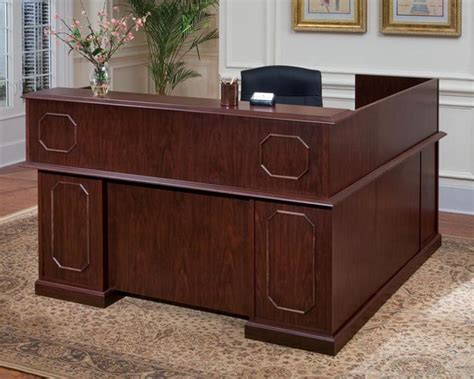 Traditional Reception Desk Desk Traditional Reception L Desk Left 66w X 78 Discontinued Smart Buy Office Furniture