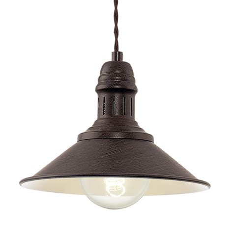 Small Pendant Lights Uk Eglo 49455 Stockbury Small Pendant Light In Antique Brown And