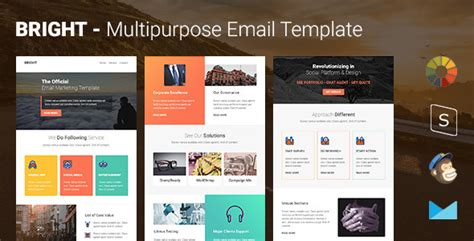 Bright Multipurpose Responsive Email Template Stready Builder By Pennyblack How To Create Email Caign Template