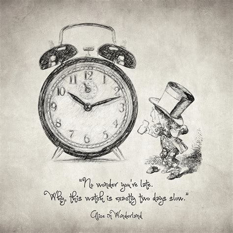 alice in wonderland quote drawing by taylan soyturk