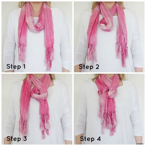 how to tie a women s neck scarf