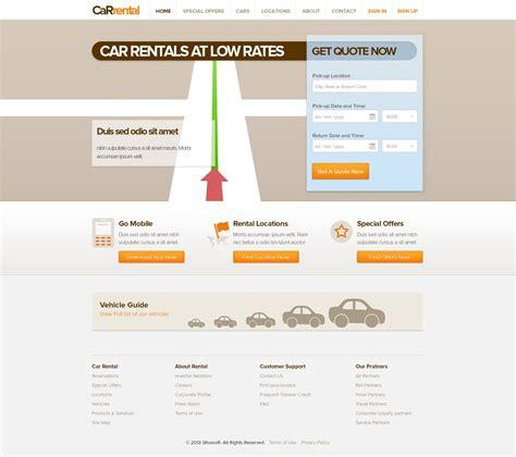 Car Rental Template Free Rent A Car Web Templates Rental Website Template Free