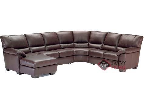 natuzzi chaise lounge trento b632 leather true sectional by natuzzi is fully
