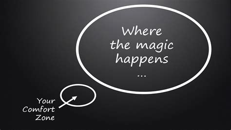 outside of your comfort zone where the magic happens step outside your comfort zone