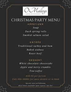 christmas party menu atlantic coast