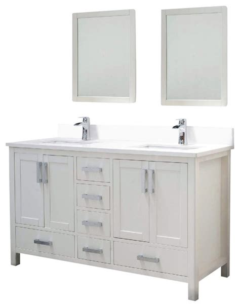 houzz bathroom vanity adornus astoria 60 w q white vanity transitional