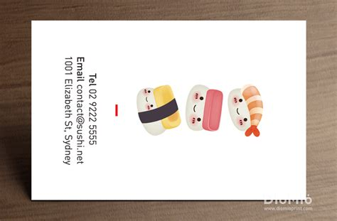 Sushi Gift Card - sushi business cards diomioprint