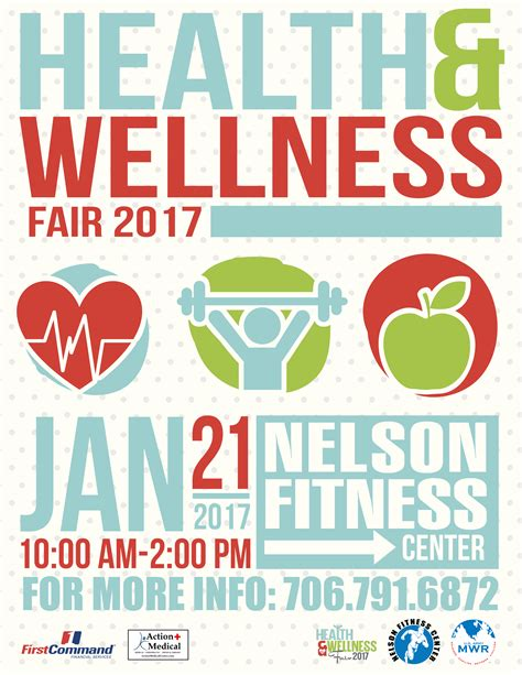 Mwr Health And Wellness Fair Fort Gordon Family And Mwr Health And Wellness Flyer Template