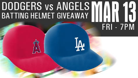 Angels Giveaway Schedule - bakersfieldcondors com dodgers v angels batting helmet giveaway