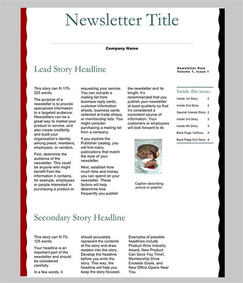 6 Free Newsletter Word Templates Excel Pdf Formats Excel Newsletter Template