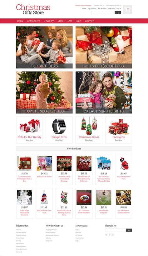9 christmas ecommerce website themes free website templates