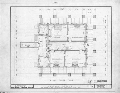 get home blueprints first floor plan bellamy mansion wilmington north