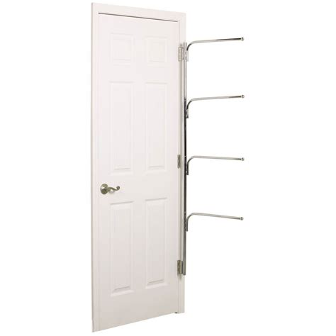 the door towel racks hinge it clutter buster door towel rack chrome in the door storage