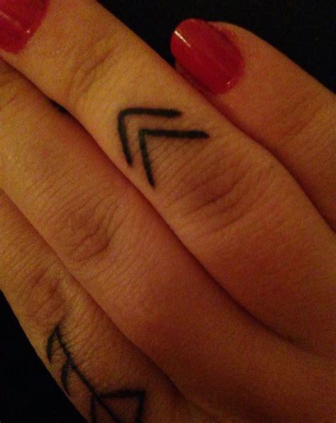 finger tattoo viking geometric tattoo my viking rune finger tattoo meaning