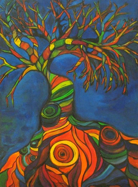 whimsical acrylic painting ideas made original acrylic painting of whimsical trees by